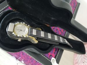 Guitar Watch and Leather Guitar Shaped Case for Sale in Niles, IL