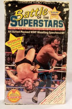 Vintage WWF Battle of the Superstars VHS Video WWE for Sale in Eagle Pass,  TX