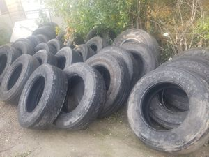 Semi truck, semi trailer tires, casings, trailer spare tire for Sale in Wheeling, IL