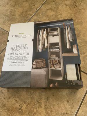 6 shelf hanging closet organizer new in box for Sale in West Palm Beach, FL