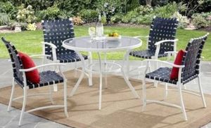 New!! 4-Piece Steel Dining Chairs, White, patio chairs, patio furniture, patio chairs, outdoor seating for Sale in Phoenix, AZ