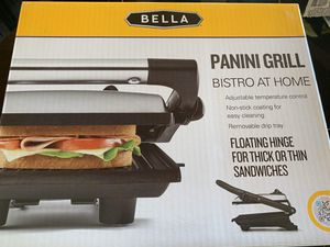 Bella black and stainless steel panini grill kitchen appliance - BRAND NEW never used for Sale in Vista, CA