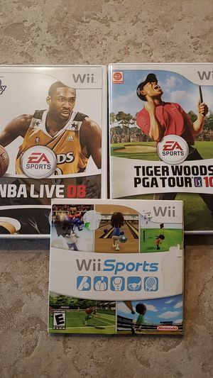 Wii games NBA,PGA Sports for Sale in Buckley, WA