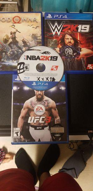 OBO PS4 1TB w/ 4 games for Sale in Wichita, KS