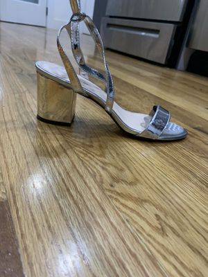Silver strap heels for Sale in Brooklyn, NY