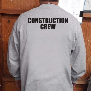 Construction Crew Gray Long Sleeve Tshirt Uniform for Sale in Whittier, CA