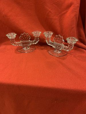 Pair of Crystal Candelabras for Sale in Everett, WA