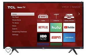 TCL - 40 Inch 1080p Smart LED Roku TV and table for Sale in Miami, FL