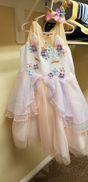 Kids Unicorn Costume Dress Girl Princess Flower Pageant Party Tutu for Sale in North Las Vegas, NV