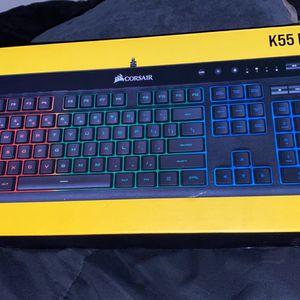 Corsair K55 RGB Gaming Keyboard for Sale in Houston, TX