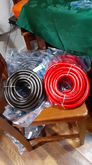 Brand New Knuconcepts 25 foot spools of 0 guage power/ground wire for Sale in Tacoma, WA