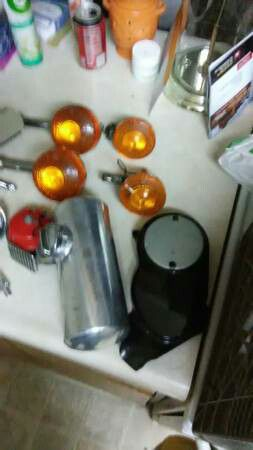 HONDA MOTORCYCLE, LIGHTS MIRRORS GAS TANK ALL NEW for Sale in Modesto, CA