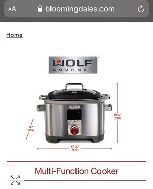 Wolf Gourmet 6-in-1 Multi Function Cooker for Sale in Chicago, IL
