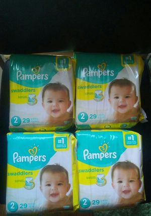 4 packs pampers sz 2 for Sale in Warren, MI