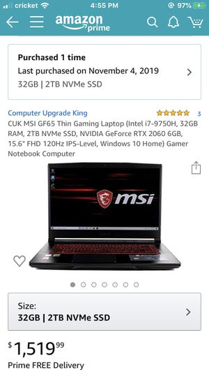 MSI As pictured for Sale in Rhinelander, WI