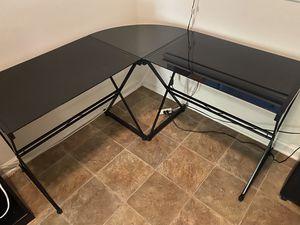 Corner Desk (Glass Top) for Sale in San Diego, CA