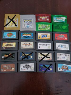Gameboy gameboy advance and gameboy color games for Sale in Tampa, FL