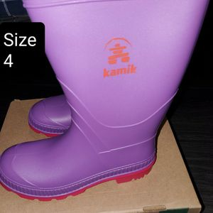 Violet Kamik Stomp Rain Boot's size 4 youth- NEW for Sale in Renton, WA