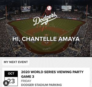 Game 3 viewing party tickets for Sale in West Covina, CA