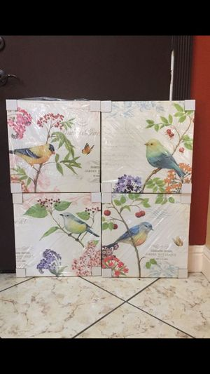 Bird Wall Decor Canvases brand new for Sale in Bakersfield, CA