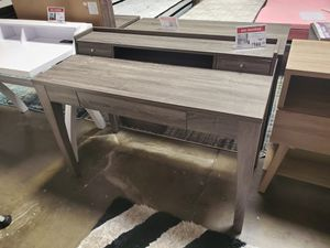 Computer Writing Desk 3 Drawers and 1 Shelf, Distressed Grey for Sale in Huntington Beach, CA
