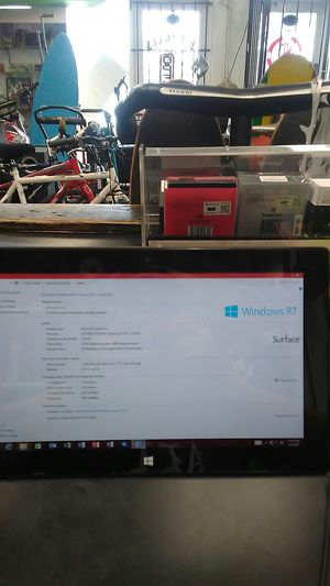 Microsoft surface Windows RT tablet- 32GB for Sale in Hollywood, FL
