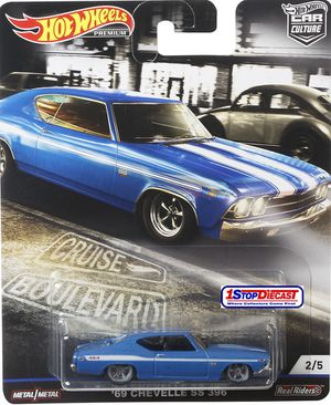 Hot wheels Chevy chevelle NEW cruisers blvd collectible die cast toy car $12 obo trade Hotwheels jdm Honda Nissan Datsun Toyota Civic crx integra S2K for Sale in Colton, CA