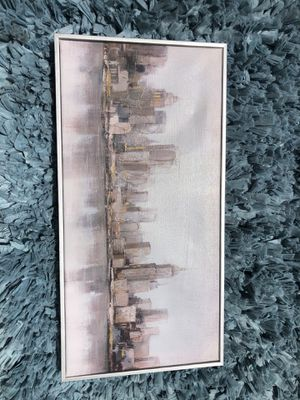 Long rectangle skyline picture for Sale in Linden, CA