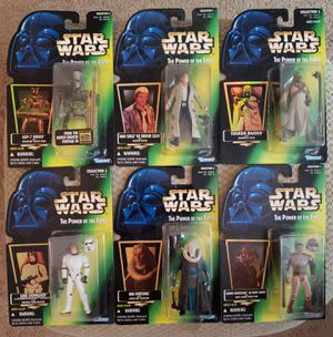 6 - Star Wars - The Power of The Force - Green Card w/Holographic Sticker - 3 3/4 Action Figure Collection for Sale in Oakdale, CA