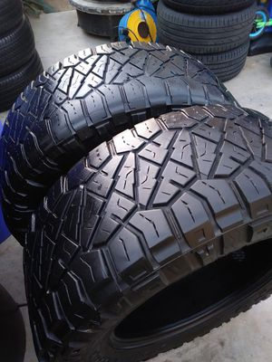 2 Nitto tires Lt 35x12.50 R20 for Sale in Whittier, CA