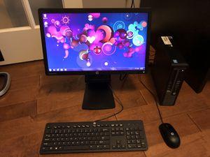 """HP EliteDesk 800 G1 USDT Desktop with 20"""" monitor for Sale in Nolensville, TN"""