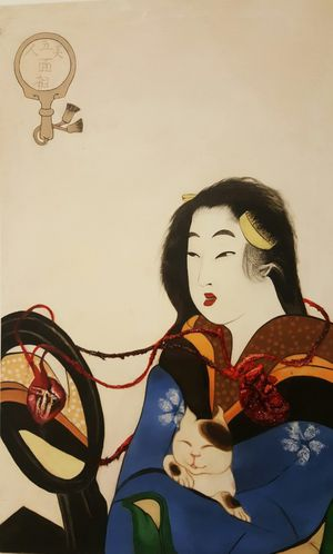 Utamaro x Frida Oil Painting for Sale in Hialeah, FL