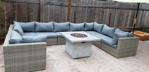 New outdoor wicker patio furniture sectional lounge fire pit custom build set for Sale in Chula Vista, CA