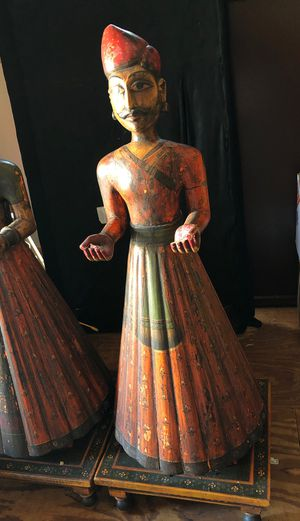 Antique Indian wooden stautes from India for Sale in Villa Rica, GA