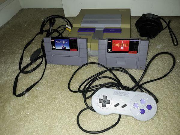 Super Nintendo plus Final Fantasy games