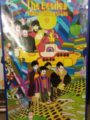 Beatles Yellow Submarine Poster Framed for Sale in Sunbury, OH
