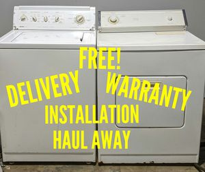 FREE DELIVERY/INSTALLATION/WARRANTY/HAUL AWAY - Kenmore Washer & Whirlpool Dryer for Sale in Hilliard, OH