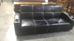Black Sofa with side pockets for Sale in Portland, OR