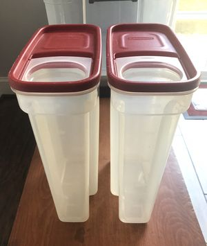 Rubbermaid cereal storage containers for Sale in Middle River, MD