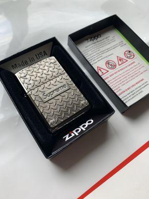 Supreme Diamond Plate Zippo for Sale in Jurupa Valley, CA