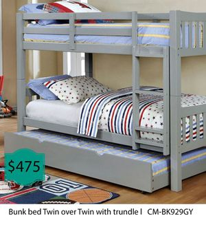 Bunk bed twin over twin with trundle for Sale in Fullerton, CA