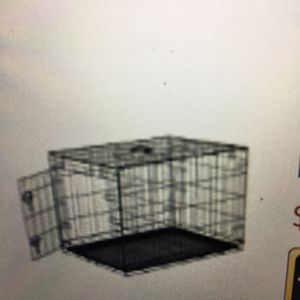 Black Metal Folding Dog/Cat Kennel With Single Door for Sale in Seattle, WA