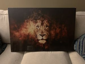 NEW Lion Head Portrait Wall Art Painting Print On Canvas Animal Picture Office Living Room Bedroom for Sale in Gaithersburg, MD