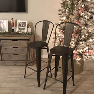 New 2 Bar Stools Metal And Wood for Sale in Las Vegas, NV