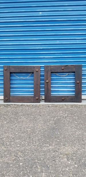 "2 solid wood rustic frames with nailhead decor. Each measures approx: 28"" wide x 28"" tall for Sale in Phoenix, AZ"