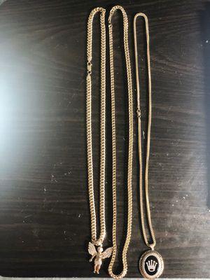Cadenas de oro 10k las 3 pesan for Sale in Houston, TX