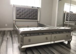 Queen size bed frame brand new in boxes for Sale in Phoenix, AZ