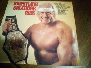 Vintage 1986 wrestling calendar for Sale in Farmville, VA