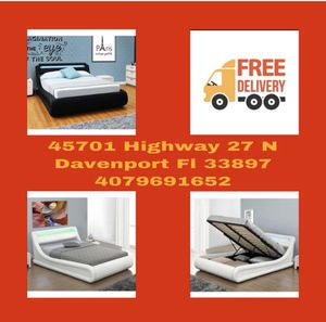 Queen Bed with Storage and LED Light In Special Offer In 45701 Highway 27 N Davenport Florida 33897 for Sale in Davenport, FL