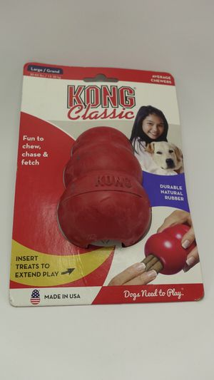 KONG - Classic Dog Toy - Durable Natural Rubber - Fun to Chew, Chase and Fetch for Sale in Bellevue, WA
